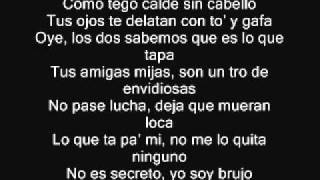 Plan B Ft. Tego Calderon - Es Un Secreto Remix Letra Lyrics