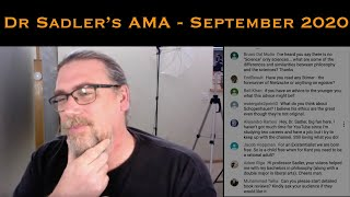 Dr Sadler's AMA (Ask Me Anything) Session - September 2020