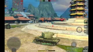 КВ-2 и КВ-1С Взводное тащилово - Лучший бой WotBlitz
