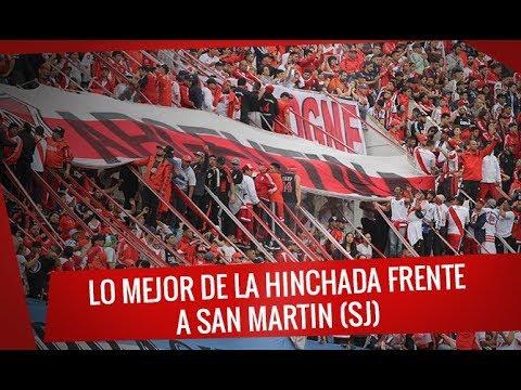 """""""Lo mejor de la hinchada contra San Martín (SJ) - Superliga 2017/18"""" Barra: Los Borrachos del Tablón • Club: River Plate"""