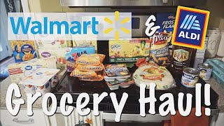WALMART & ALDI GROCERY HAUL FOR A FAMILY OF 4!