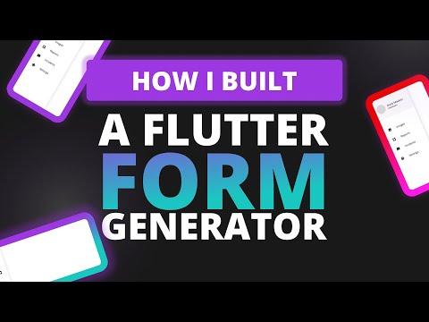 How I built a Flutter Forms Generator