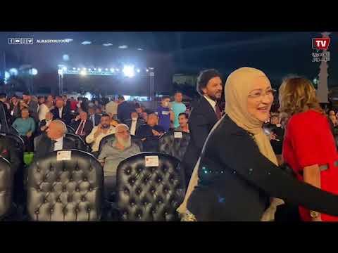 لحظة وصول شوبير وحسام غالي لاحتفالية النادي الأهلي بالنجمة العاشرة