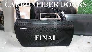Изготовление карбон-стеклопластиковых дверей Opel Asrta J. Финал\ making fiberglass doors