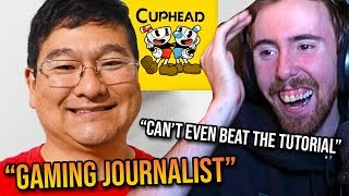 Asmongold Can't Stop Laughing At Gaming Journalist Who Can't Even Beat Cuphead's Tutorial