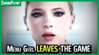 Detroit Become Human - Menu Girl LEAVES The Game PERMANENTLY - Detroit Become Human Ending Gameplay