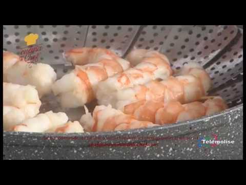 In Cucina con lo Chef - 87 - Ventaglio di gamberoni al vapore su insalatina imperiale - 17/02/2017