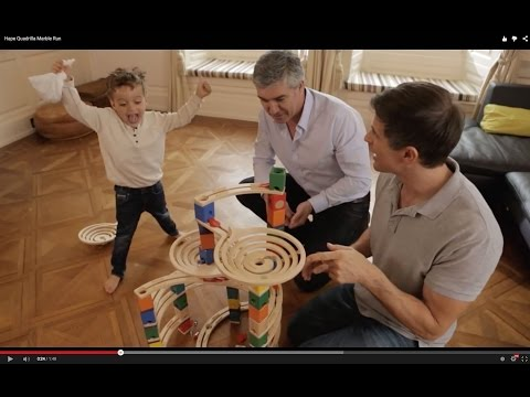 Youtube Video for Quadrilla Marble Run Construction