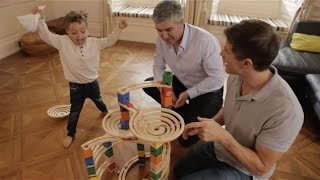 HAPETOYS QUADRILLA * WOODEN MARBLE RUN