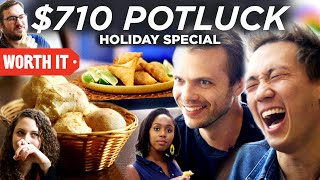 Worth It hosts a potluck! A three part series celebrating holiday food traditions and friends. Part 1: The Appetizers. Featuring Google Assistant.   Google is a trademark of Google LLC.  Credits: https://www.buzzfeed.com/bfmp/videos/68578  Check out more awesome videos at BuzzFeedVideo! https://bit.ly/YTbuzzfeedvideo  GET MORE BUZZFEED: https://www.buzzfeed.com https://www.buzzfeed.com/videos https://www.youtube.com/buzzfeedvideo https://www.youtube.com/asis https://www.youtube.com/buzzfeedmultiplayer https://www.youtube.com/buzzfeedviolet https://www.youtube.com/perolike https://www.youtube.com/ladylike  BuzzFeedVideo BuzzFeed's flagship channel. Sometimes funny, sometimes serious, always shareable. New videos posted daily! To see behind-the-scenes & more, follow us on Instagram @buzzfeedvideo http://bit.ly/2JRRkKU  Love BuzzFeed? Get the merch! BUY NOW: https://goo.gl/gQKF8m MUSIC SFX Provided By AudioBlocks (https://www.audioblocks.com)  Licensed via Audio Network Mystere Licensed via Warner Chappell Production Music Inc. Travel Card Licensed via Warner Chappell Production Music Inc. Soul Daddy_Main Licensed via Warner Chappell Production Music Inc. Celebrity Tune Licensed via Warner Chappell Production Music Inc. Sand Sea And Romance Licensed via Warner Chappell Production Music Inc.    EXTERNAL CREDITS Juliano Marques Calvo http://www.pampas-grill.com/locations/burbank/