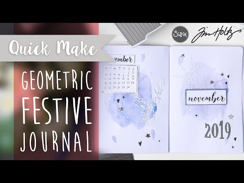 Geometric Festive Journal - Sizzix