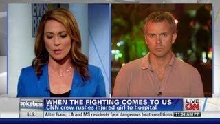 CNN Crew Helps Injured Child In Syria