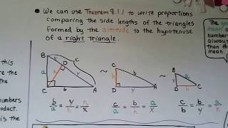 Geometry 8.1, Similarity In Right Triangles