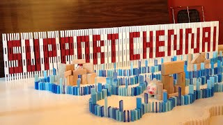 A Tribute To Chennai In 4000 Dominoes