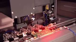 Laser PCB Marker with Board Stackers and Flipper