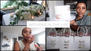 WEEKEND VLOG: MAIDE OF HONOR DUTIES, BRIDAL SHOWER + SEEING MY WEDDING FLORAL