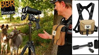 Vortex GlassPak Binocular Harness, Vortex Uni-Daptor & Vortex Diamondback HD 15x56 Binoculars
