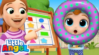 Learning Shapes At Home | Little Angel Kids Songs & Nursery Rhymes