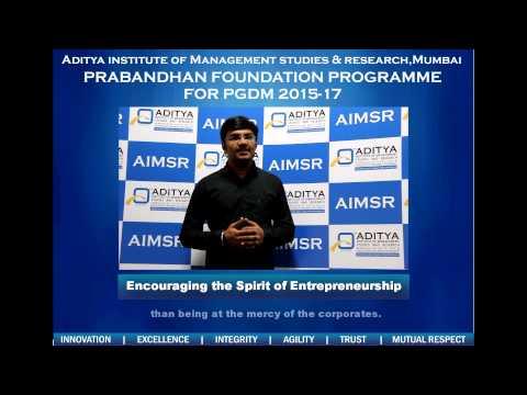 Aditya Institute of Management Studies & Research video cover2
