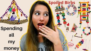 I Buy Too Many Bird Toys | HUGE BIRD SUPPLIES HAUL | PARROT TOYS
