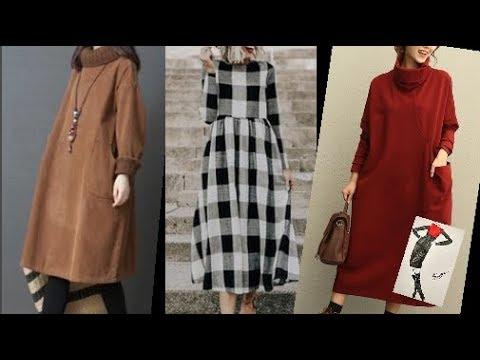 Повседневные платья в скандинавском стиле для женщин за 50.Зима 2020