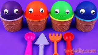 4 Colors Play Doh Ice Cream Cups Masha and The Bear Kinder Surprise Egg  LOL Suprise Lil Sister