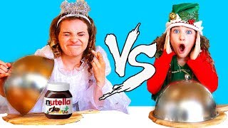 Kids fighting in NAUGHTY VS NICE food switch up Challenge