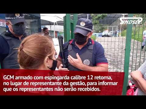 Sindsep participa de ato com os trabalhadores contra os demandos da gestão do CEU Alvarenga