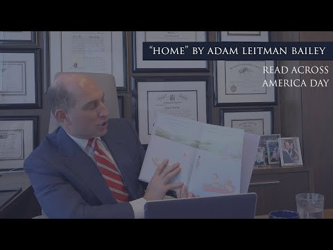 "Adam Leitman Bailey brings fun and smiles virtually to students at James Madison Elementary School reading his book ""Home"" testimonial video thumbnail"