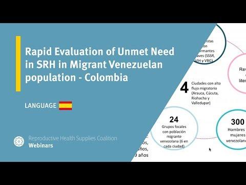 Rapid Evaluation of Unmet Need in SRH in Migrant Venezuelan population - Colombia