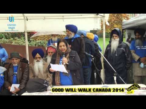 UNITED SIKHS Good Will Walk Canada 2014