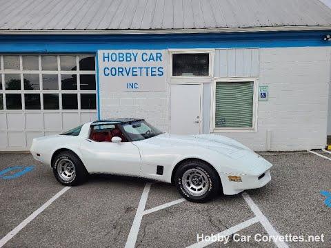 1980 White Corvette Red Int For Sale Video