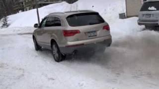 Audi Q7 Snow Patchout (Sounds like an R8)