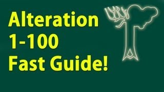 Alteration 1-100 Guide Skyrim Fastest way to level!