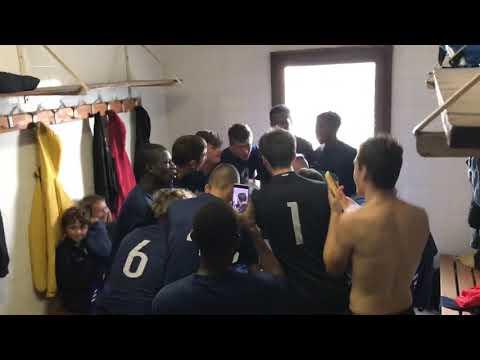 Cri de guerre des U18 face à Bruyères