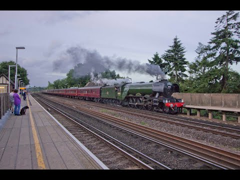 Flying Scotsman at Reigate, Byfleet & New Haw and Gomshall w…