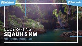 Berpetualang di Green Canyon Ciamis, Body Rafting Sejauh 5 KM