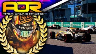 Apex Online Racing F1 2017 Highlights | Round 12 Malaysia