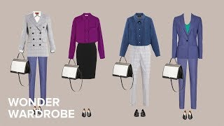 The Business Formal dress code: capsule wardrobe example (100 outfits).