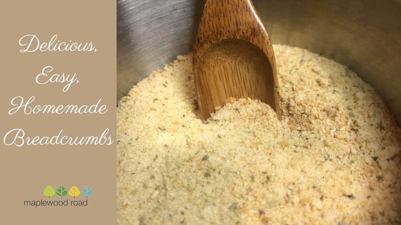 Delicious, Easy, Homemade Breadcrumbs