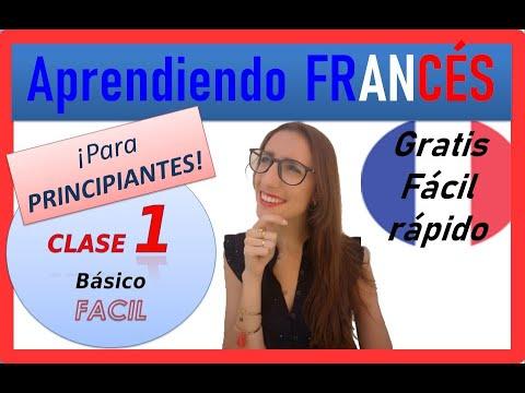 CLASE DE FRANCÉS 1 🔵⚪🔴para PRINCIPIANTES, fácil rápido gratis 🐱CURSO DE FRANCES COMPLETO GRATIS