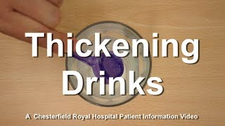 How to thicken fluids: levels 1 to 4 - Chesterfield Royal Hospital NHS Foundation Trust