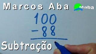 SUBTRAÇÃO - professor Marcos Aba
