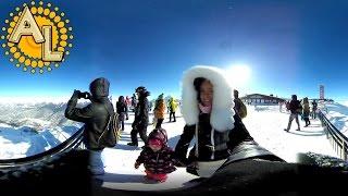 360 градусов: Панорама гор | Роза Пик 2320 | Sochi Rosa Khutor Mountains 360