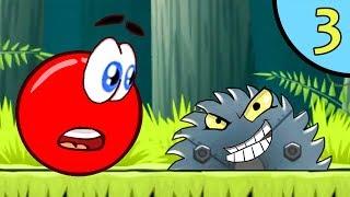 Несносный КРАСНЫЙ ШАР против чёрного квадрата #3. Мультик ИГРА для детей Red Ball 4 на Игрули TV