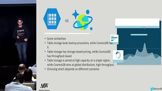 Saturn 2018 Talk: Azure Table Storage: The Good, the Bad, the Ugly, by Sirar Salih