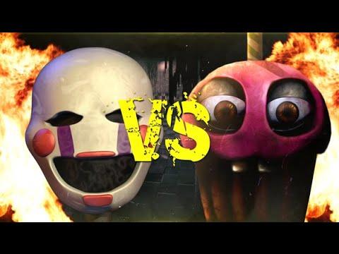 Рэп битва Марионетка vs кексик/Rap Battle muffin vs puppet Чебурашка FNAF.