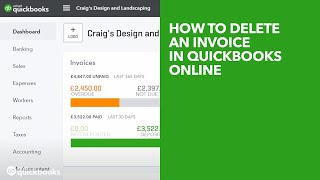 How to delete an invoice in QuickBooks Online