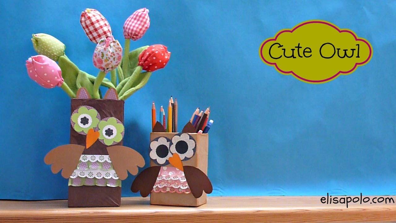 Ideas de Regalo para el Día de la Madre y el Día del Padre, Cute Owl Crafts,