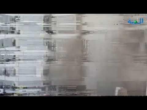 بالفيديو .. حريق ضخم داخل مبنى وزارة الصحة العراقية